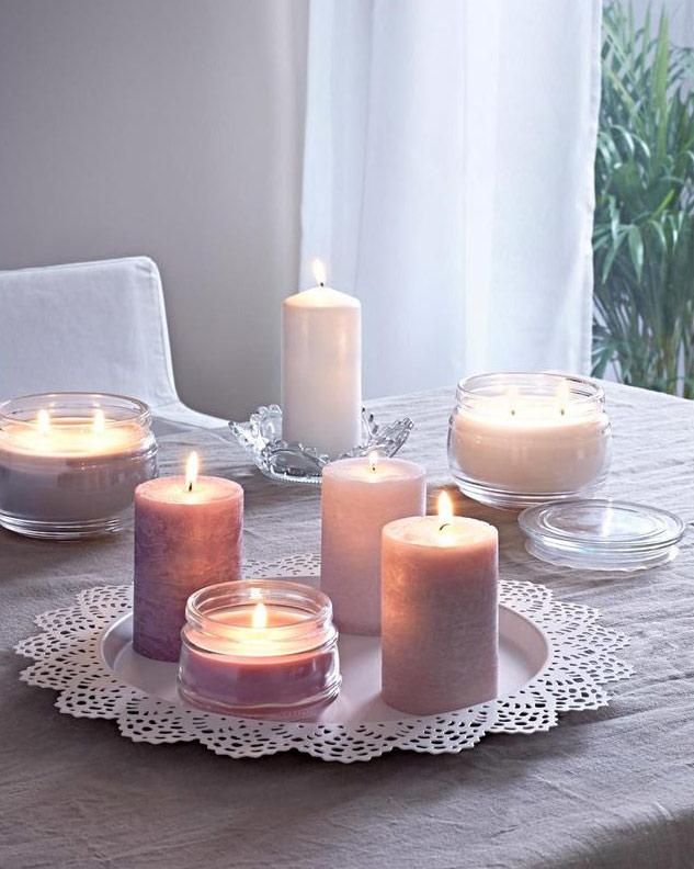 candele per atmosfera hygge e lagom