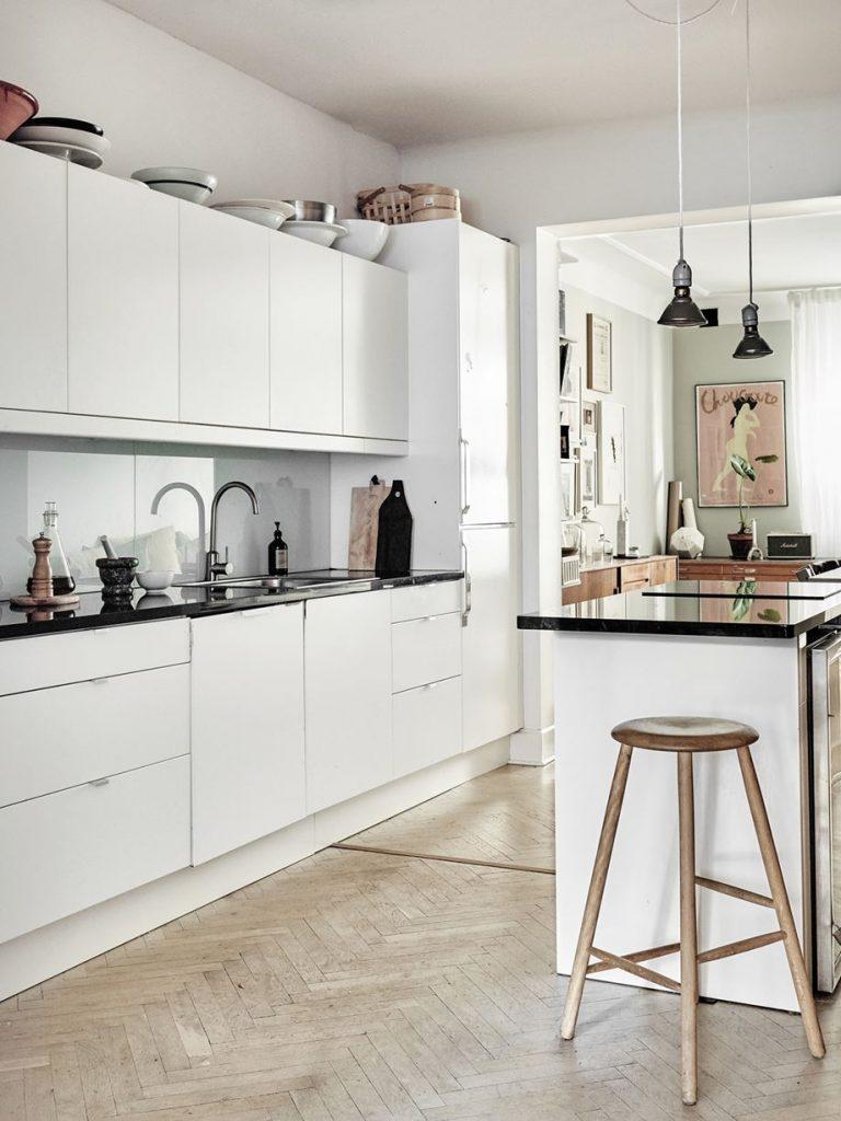 cucina in stile nordico total white
