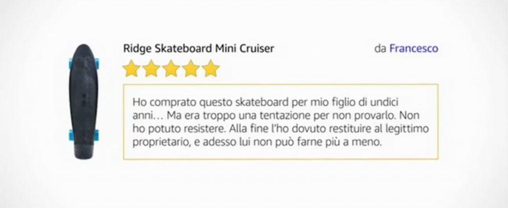 esempio recensione Amazon
