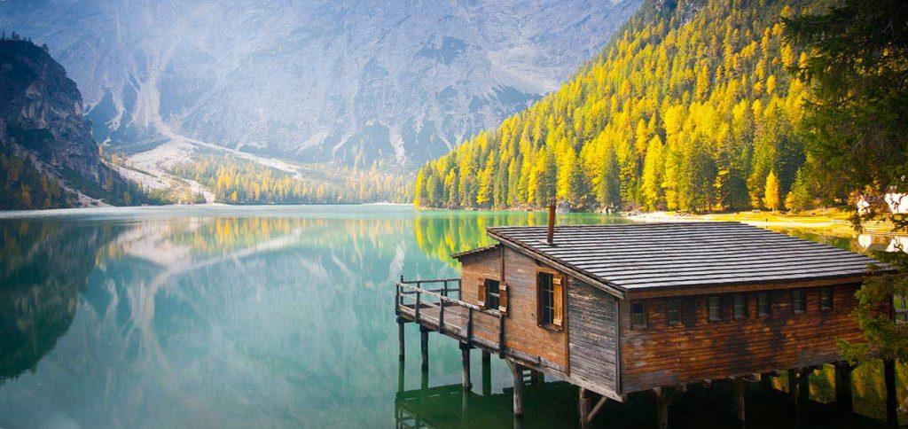 la baita sul lago di A un passo dal cielo 5